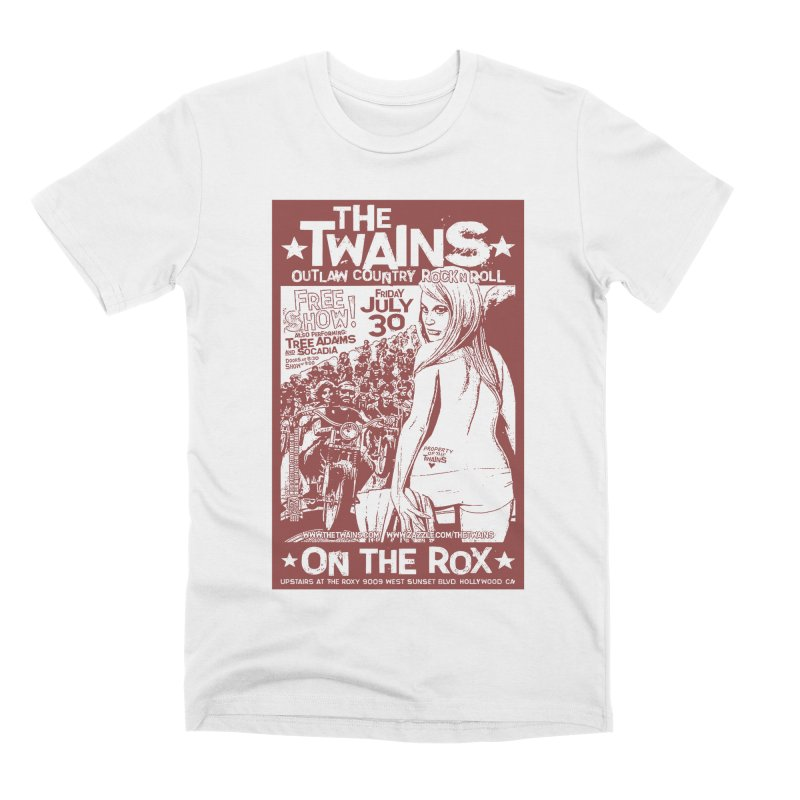 Twains Bikers on the Rox Men's T-Shirt by The Twains' Artist Shop