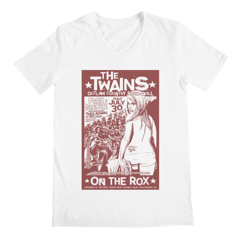 Twains Bikers on the Rox Men's V-Neck by The Twains' Artist Shop