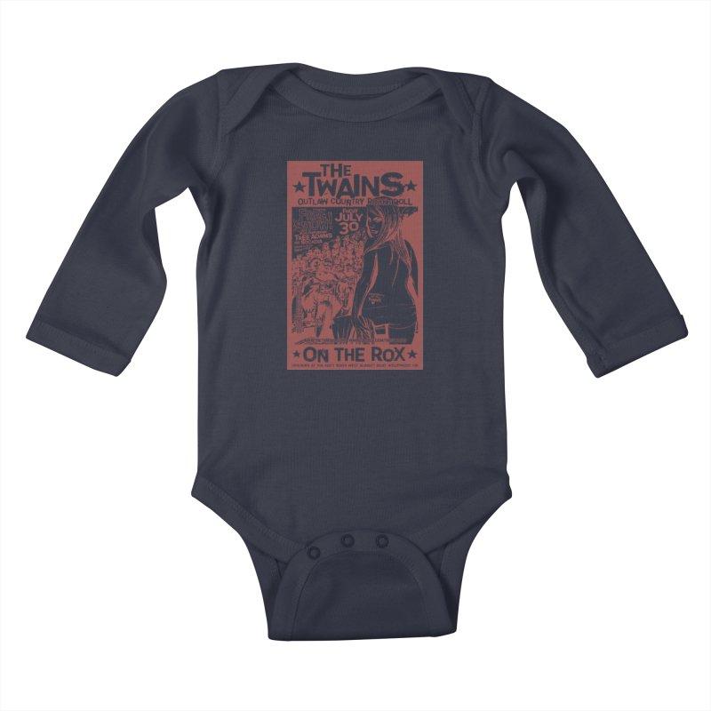 Twains Bikers on the Rox Kids Baby Longsleeve Bodysuit by The Twains' Artist Shop