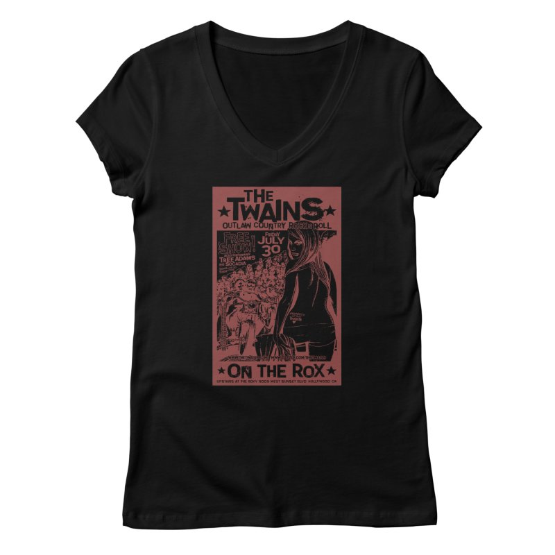 Twains Bikers on the Rox Women's V-Neck by The Twains' Artist Shop