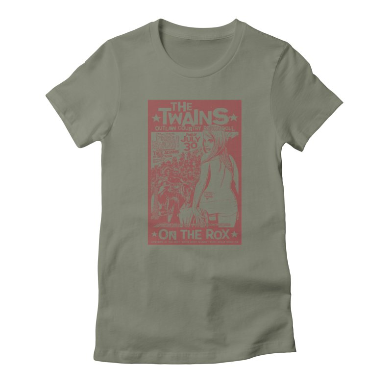Twains Bikers on the Rox Women's T-Shirt by The Twains' Artist Shop