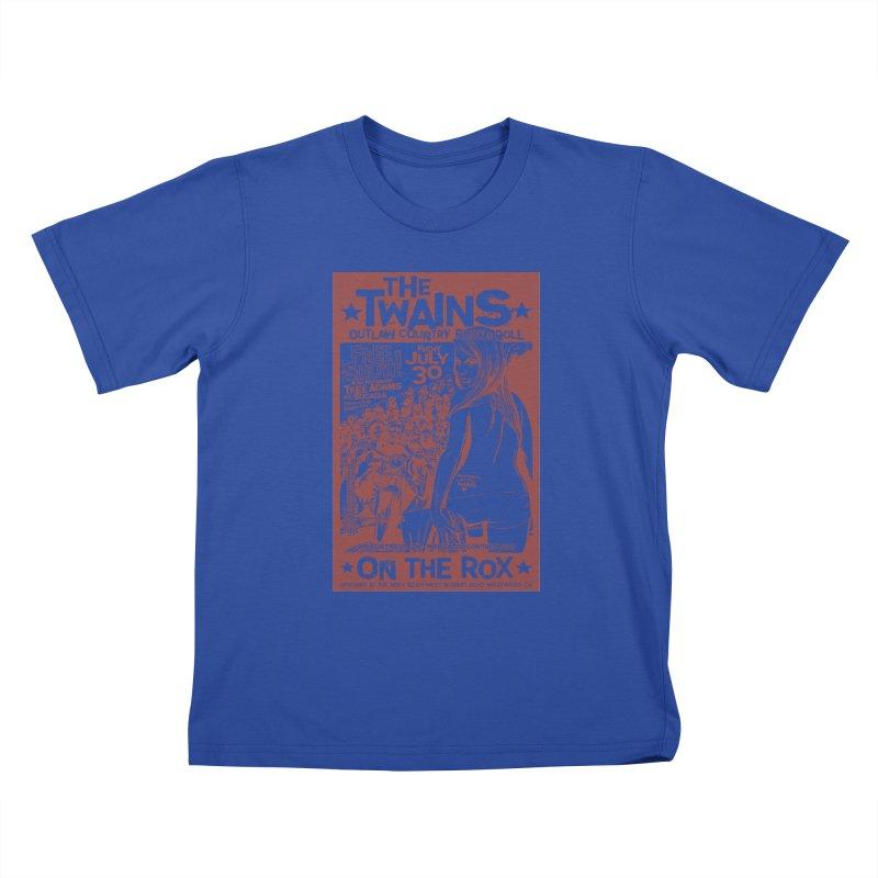 Twains Bikers on the Rox Kids T-Shirt by The Twains' Artist Shop