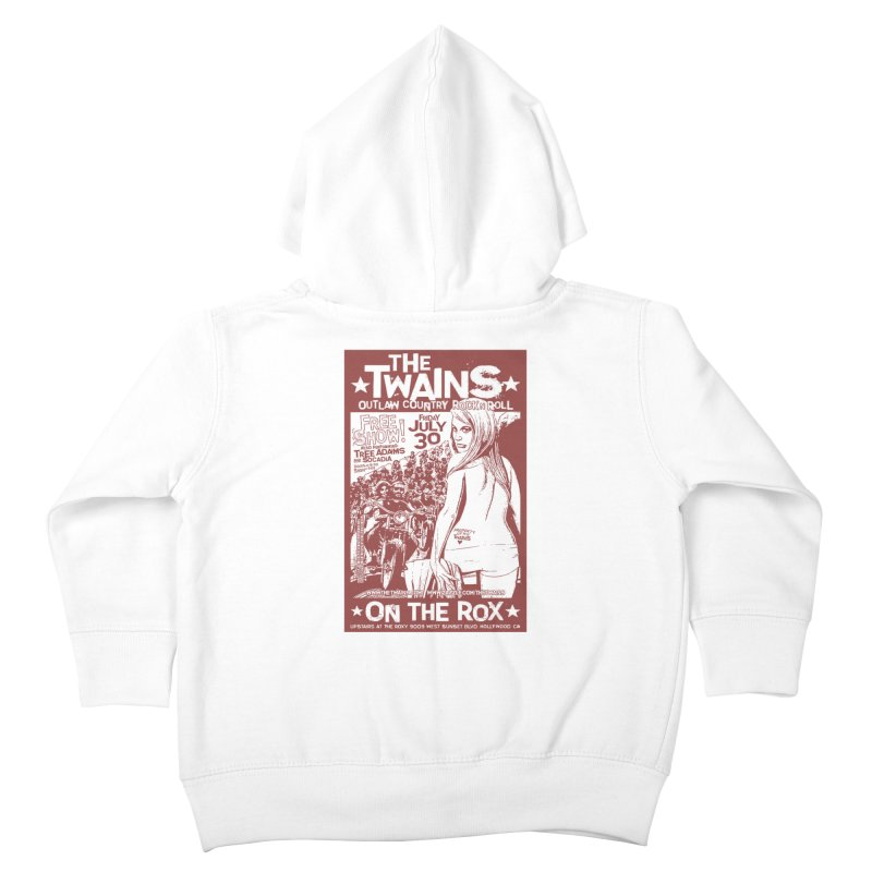 Twains Bikers on the Rox Kids Toddler Zip-Up Hoody by The Twains' Artist Shop