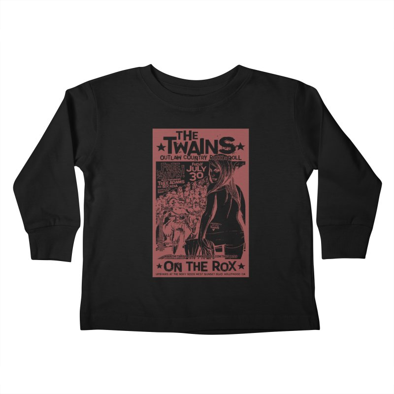Twains Bikers on the Rox Kids Toddler Longsleeve T-Shirt by The Twains' Artist Shop