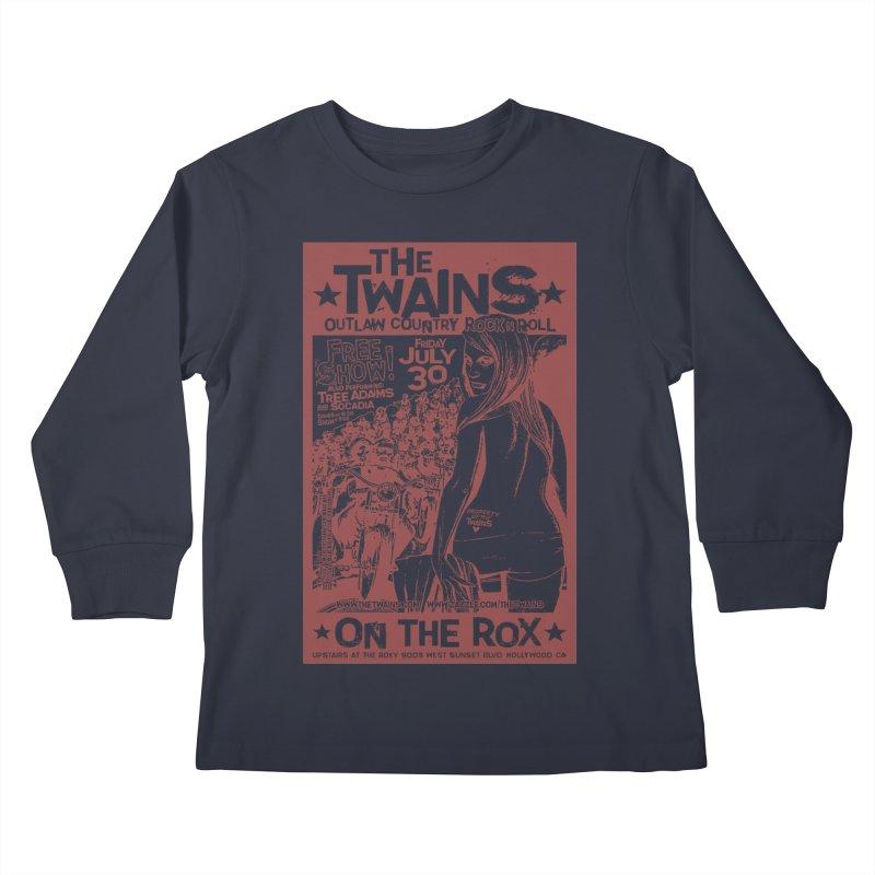 Twains Bikers on the Rox Kids Longsleeve T-Shirt by The Twains' Artist Shop