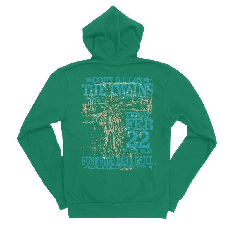 Twains Surfside on the Trail Too Men's Zip-Up Hoody by The Twains' Artist Shop