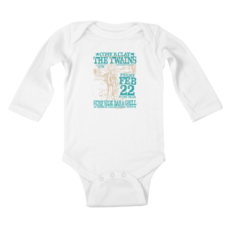 Twains Surfside on the Trail Too Kids Baby Longsleeve Bodysuit by The Twains' Artist Shop