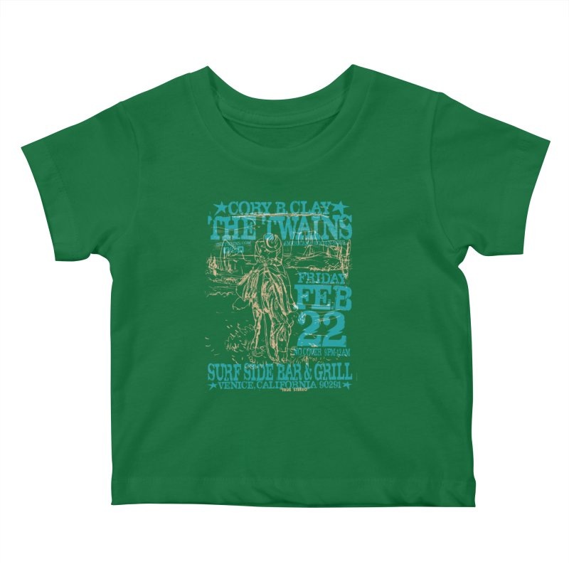 Twains Surfside on the Trail Too Kids Baby T-Shirt by The Twains' Artist Shop