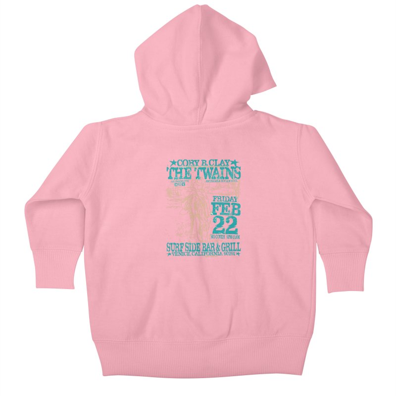 Twains Surfside on the Trail Too Kids Baby Zip-Up Hoody by The Twains' Artist Shop