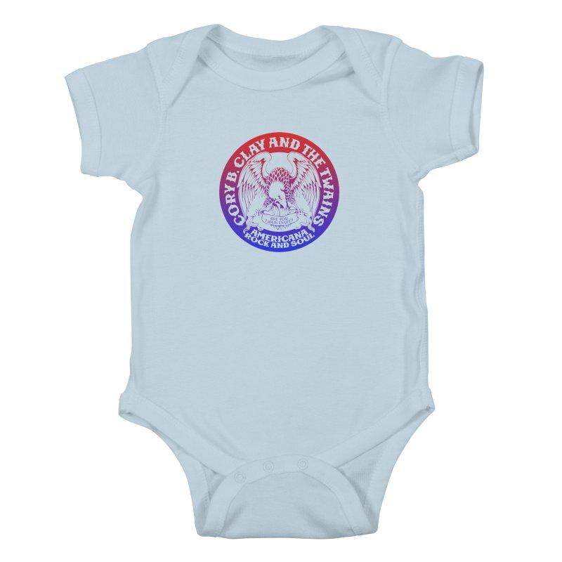 Americana Twains Eagle Kids Baby Bodysuit by The Twains' Artist Shop