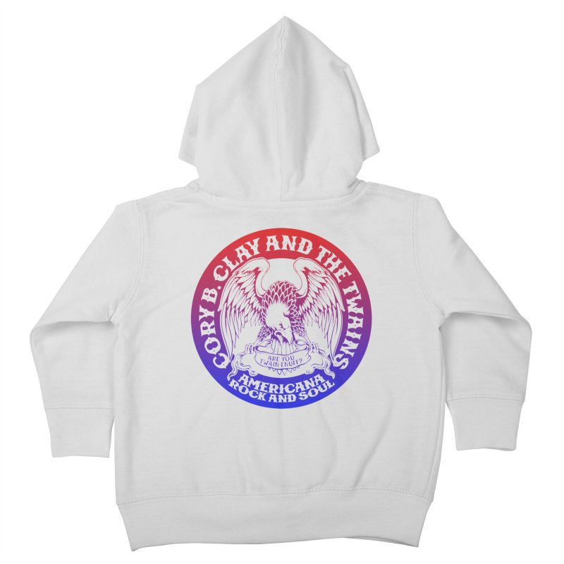 Americana Twains Eagle Kids Toddler Zip-Up Hoody by The Twains' Artist Shop