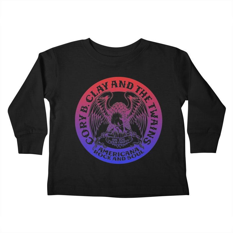 Americana Twains Eagle Kids Toddler Longsleeve T-Shirt by The Twains' Artist Shop