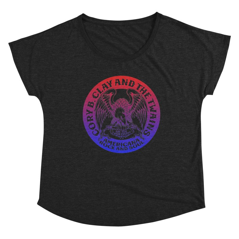 Americana Twains Eagle Women's Scoop Neck by The Twains' Artist Shop