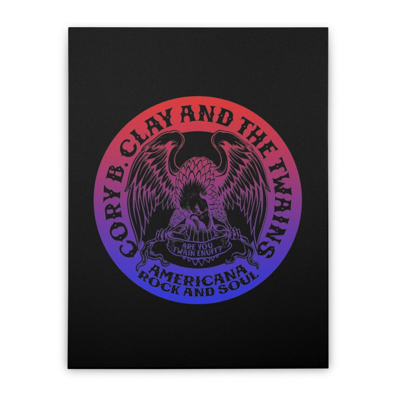 Americana Twains Eagle Home Stretched Canvas by The Twains' Artist Shop