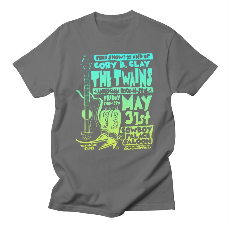 Cowboy Palace Boots or Nothin' Men's T-Shirt by The Twains' Artist Shop