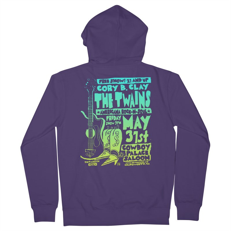 Cowboy Palace Boots or Nothin' Women's Zip-Up Hoody by The Twains' Artist Shop