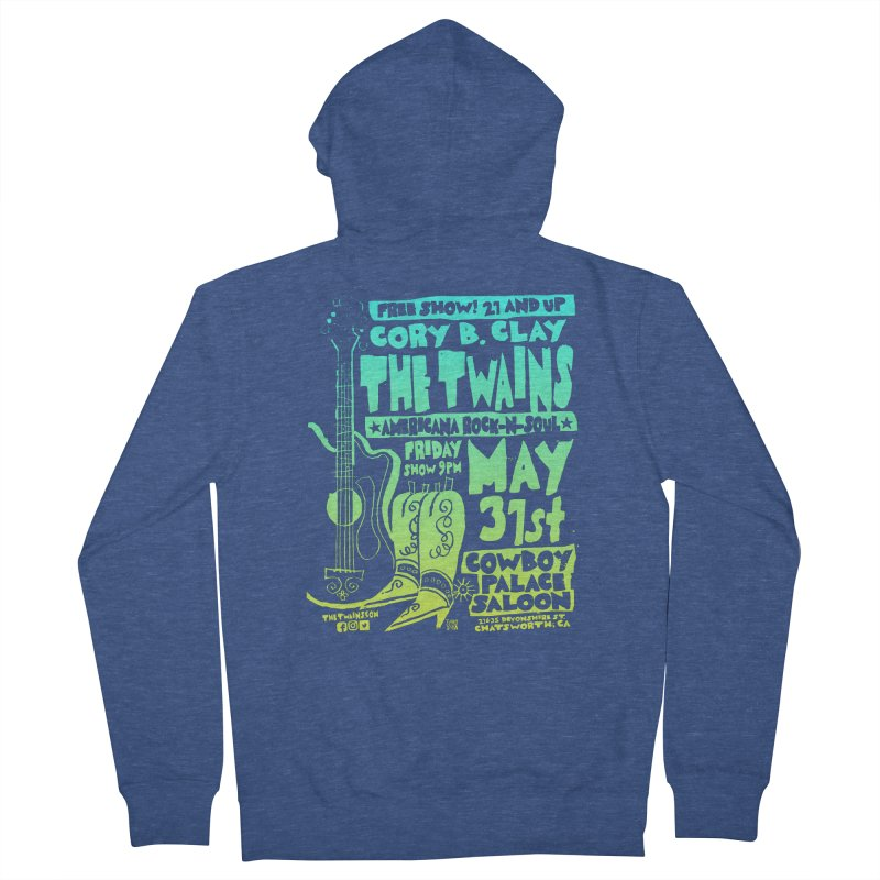 Cowboy Palace Boots or Nothin' Men's Zip-Up Hoody by The Twains' Artist Shop