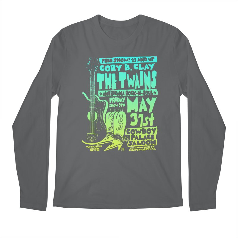 Cowboy Palace Boots or Nothin' Men's Longsleeve T-Shirt by The Twains' Artist Shop