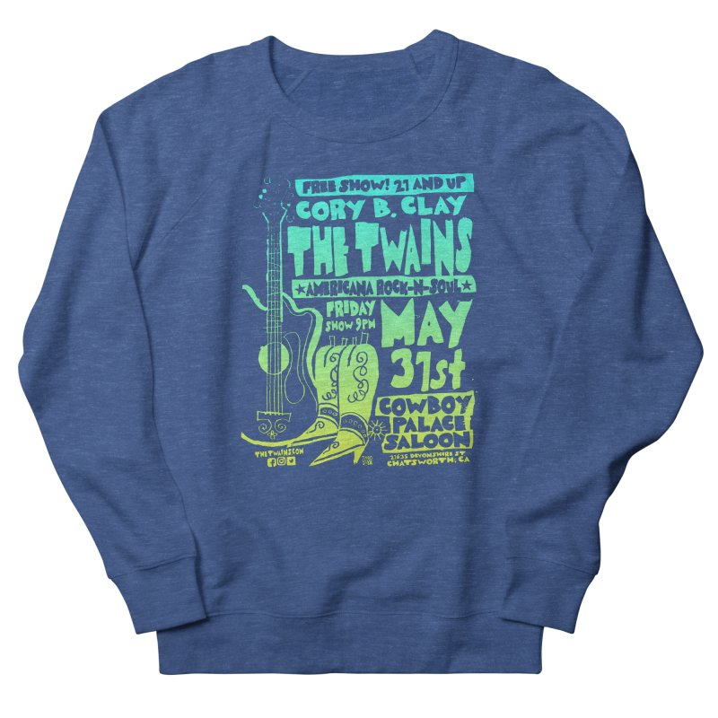 Cowboy Palace Boots or Nothin' Men's Sweatshirt by The Twains' Artist Shop