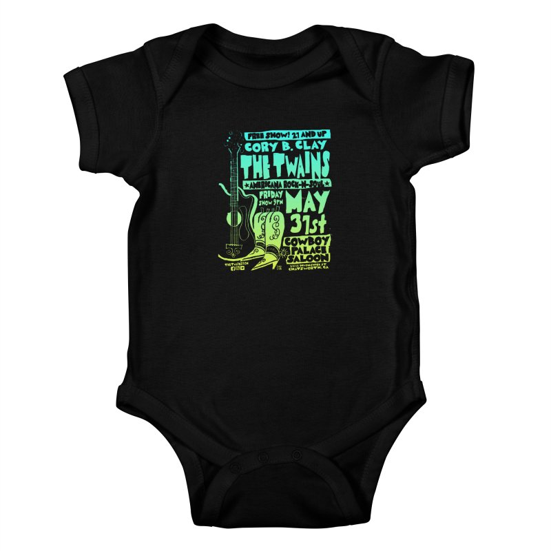 Cowboy Palace Boots or Nothin' Kids Baby Bodysuit by The Twains' Artist Shop