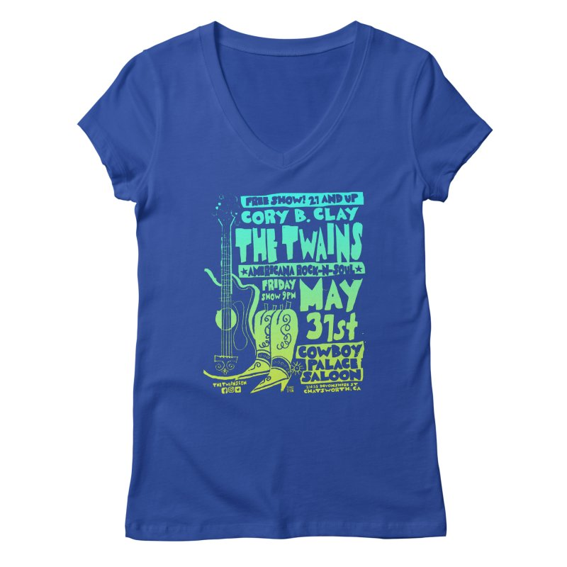 Cowboy Palace Boots or Nothin' Women's V-Neck by The Twains' Artist Shop
