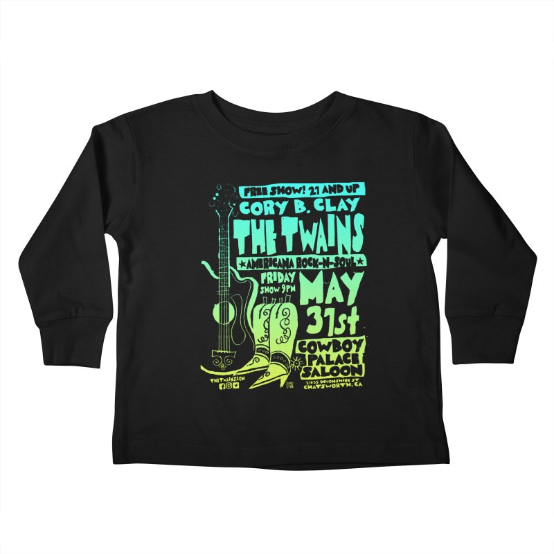 Cowboy Palace Boots or Nothin' Kids Toddler Longsleeve T-Shirt by The Twains' Artist Shop