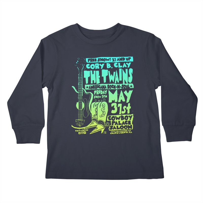 Cowboy Palace Boots or Nothin' Kids Longsleeve T-Shirt by The Twains' Artist Shop