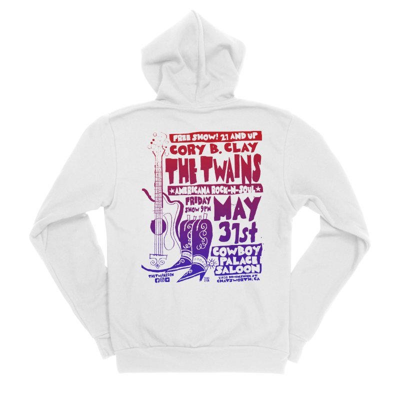 Cowboy Palace Saloon Official Twains Men's Zip-Up Hoody by The Twains' Artist Shop