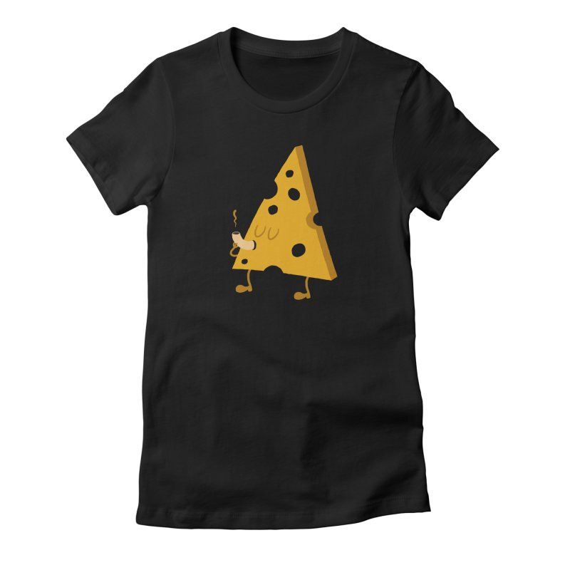 The Smoked Cheese Women's Fitted T-Shirt by theValentin's Artist Shop