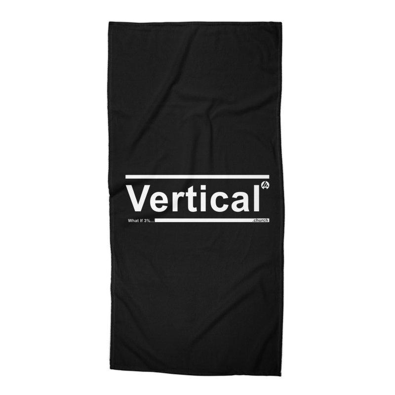 Vertical Minimalist Accessories Beach Towel by the vertical church's Artist Shop