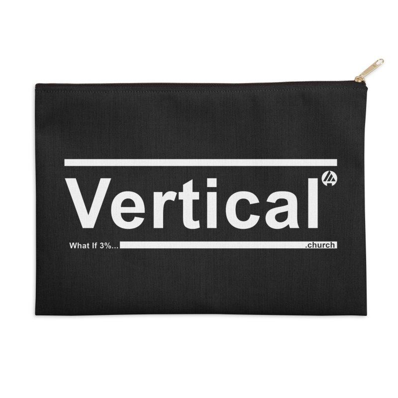 Vertical Minimalist Accessories Zip Pouch by the vertical church's Artist Shop