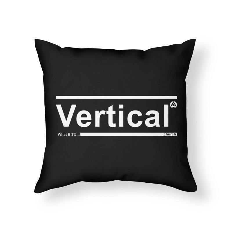 Vertical Minimalist Home Throw Pillow by the vertical church's Artist Shop