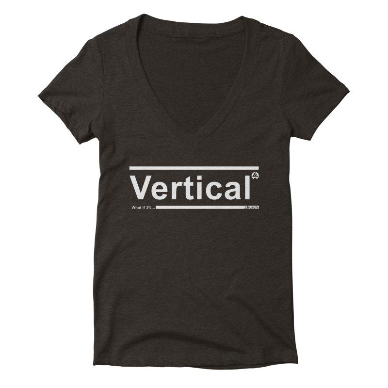 Vertical Minimalist Women's V-Neck by the vertical church's Artist Shop