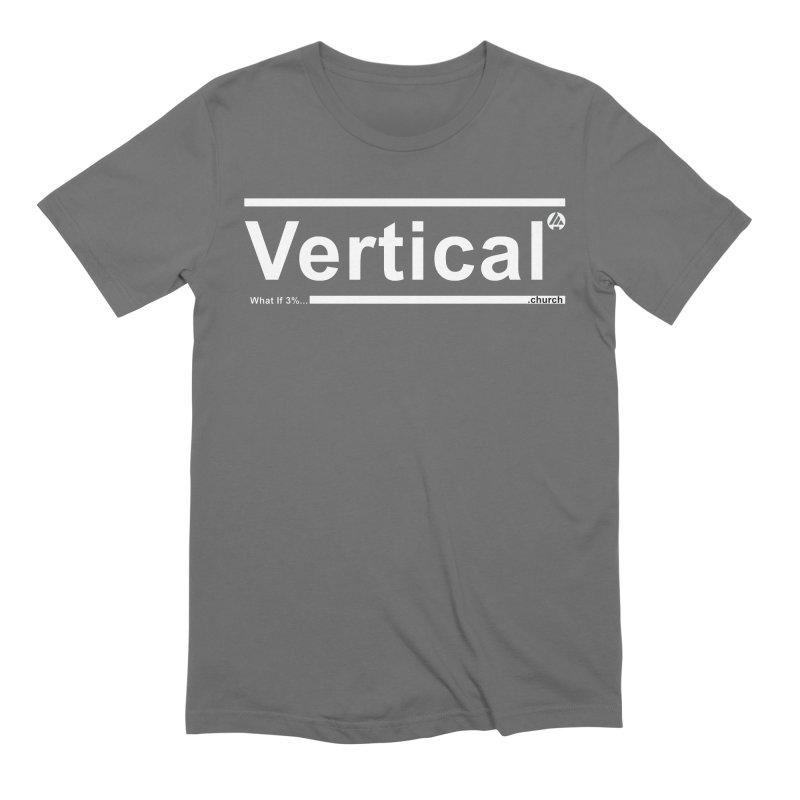 Vertical Minimalist Men's T-Shirt by the vertical church's Artist Shop