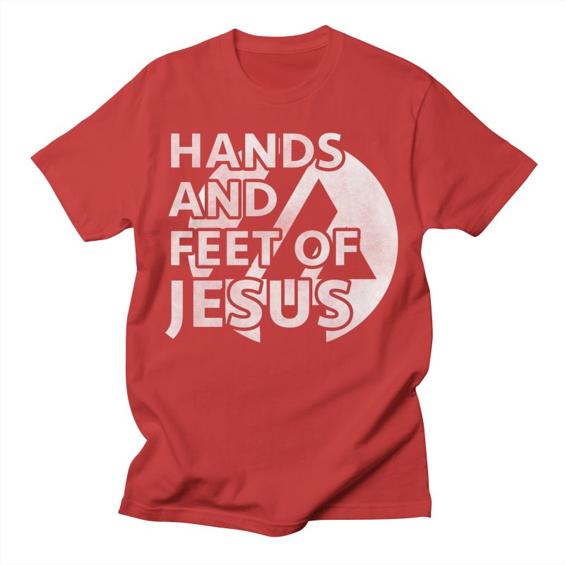 hands and feet Men's T-Shirt by the vertical church's Artist Shop