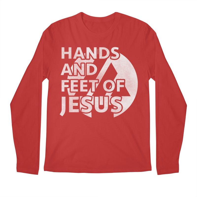hands and feet Men's Regular Longsleeve T-Shirt by the vertical church's Artist Shop