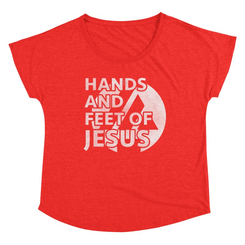 hands and feet Women's Scoop Neck by the vertical church's Artist Shop