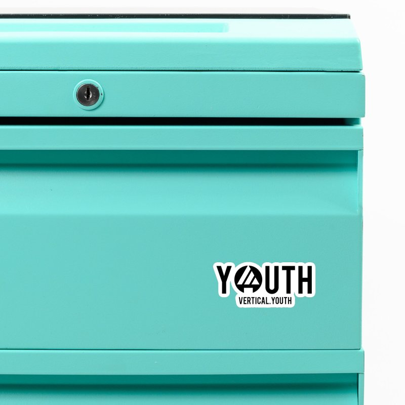 Youth Logo Black Accessories Magnet by the vertical church's Artist Shop