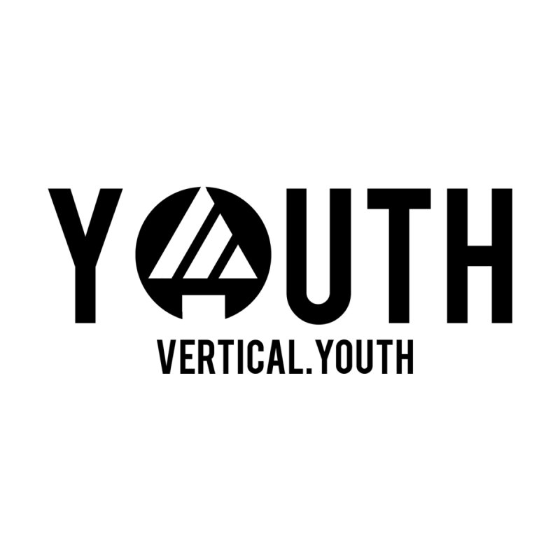 Youth Logo Black Accessories Notebook by the vertical church's Artist Shop