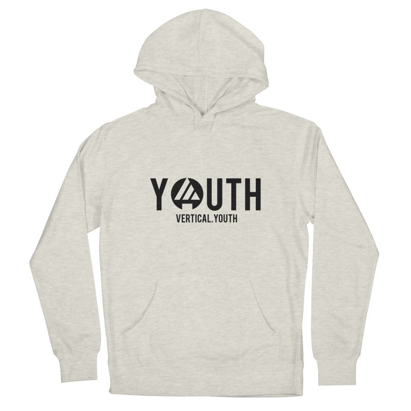 Youth Logo Black Men's Pullover Hoody by the vertical church's Artist Shop