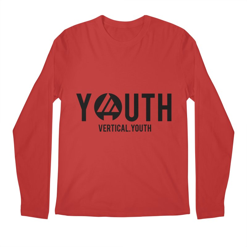 Youth Logo Black Men's Longsleeve T-Shirt by the vertical church's Artist Shop