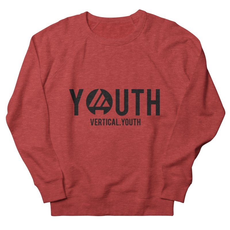 Youth Logo Black Women's French Terry Sweatshirt by the vertical church's Artist Shop