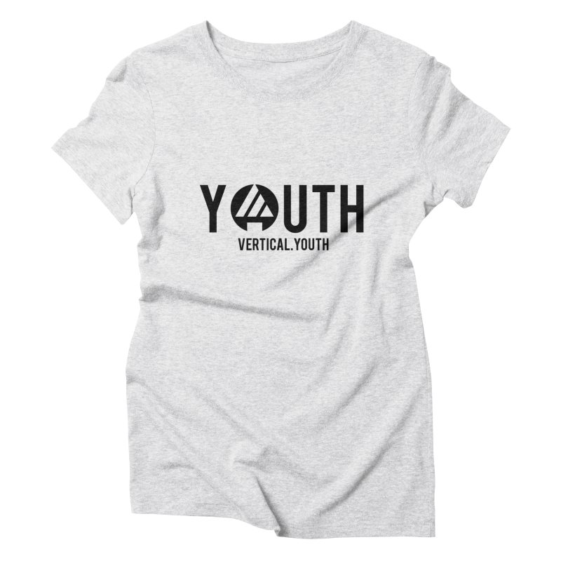 Youth Logo Black Women's T-Shirt by the vertical church's Artist Shop