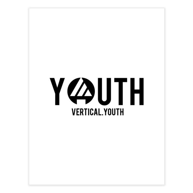 Youth Logo Black Home Fine Art Print by the vertical church's Artist Shop