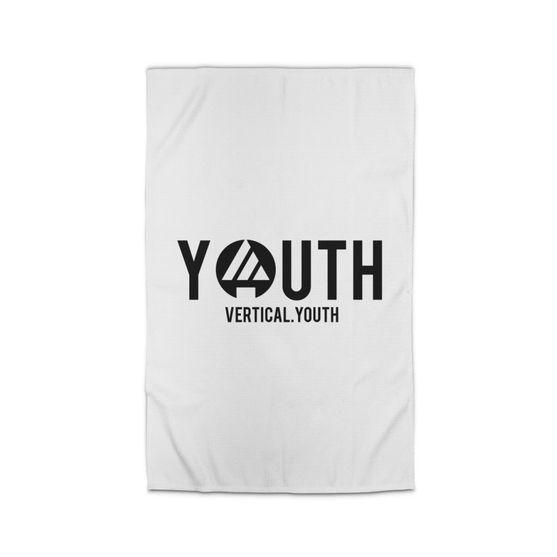Youth Logo Black Home Rug by the vertical church's Artist Shop