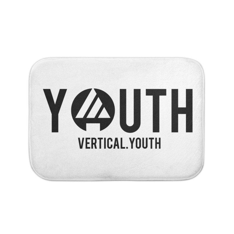Youth Logo Black Home Bath Mat by the vertical church's Artist Shop