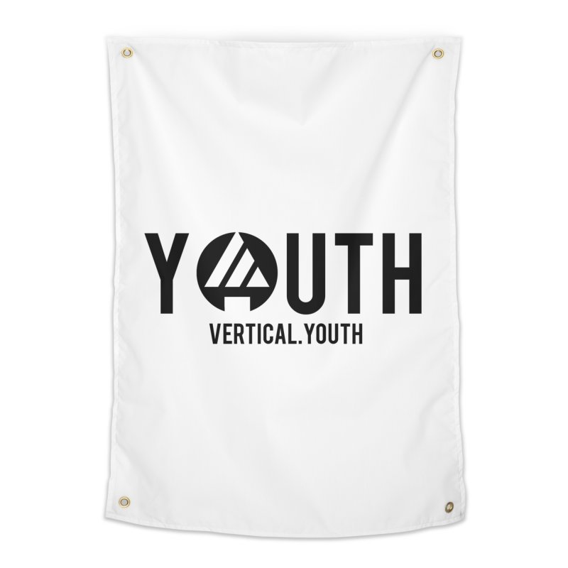 Youth Logo Black Home Tapestry by the vertical church's Artist Shop