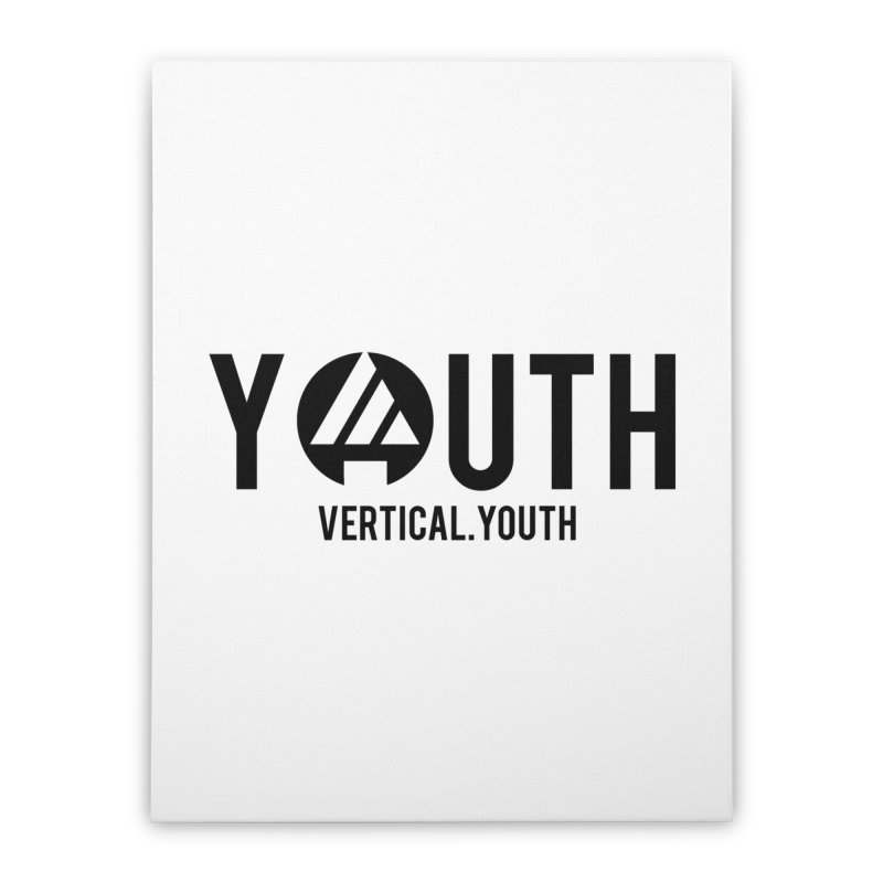 Youth Logo Black Home Stretched Canvas by the vertical church's Artist Shop