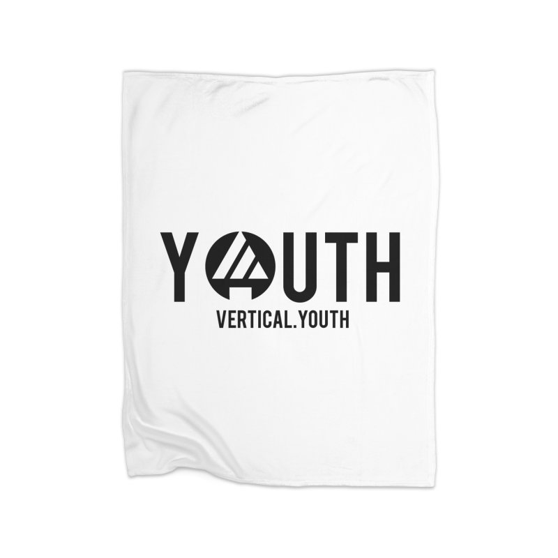 Youth Logo Black Home Blanket by the vertical church's Artist Shop