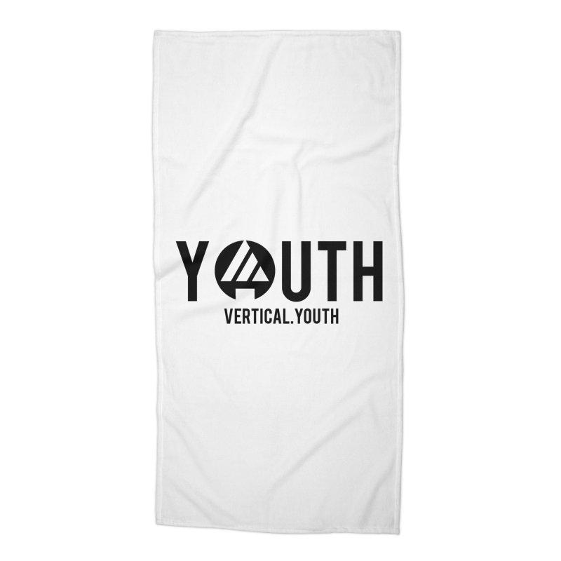 Youth Logo Black Accessories Beach Towel by the vertical church's Artist Shop
